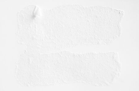 White torn sheet of paper texture background.