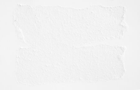 White ripped sheet of paper texture background. Banco de Imagens