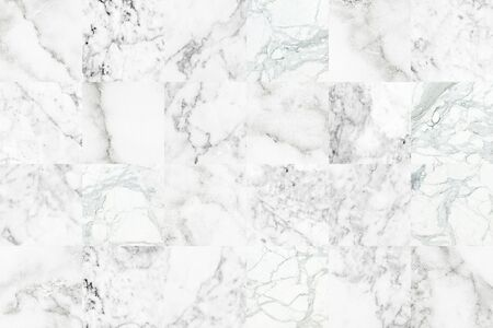White grey marble tiles texture background. Grey marble wall. Banco de Imagens