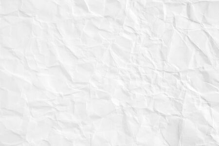 Closeup white blank crumpled sheet of paper texture background.