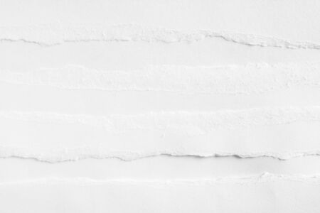 White clean torn art paper texture background. Banco de Imagens