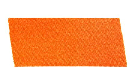 Orange matte cloth gaffer tape isolated on white background.