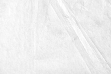 White blank crumpled kraft wrapping paper texture background.