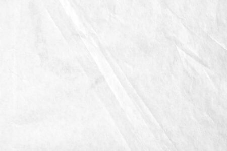 Closeup white blank crumpled kraft wrapping paper texture background.