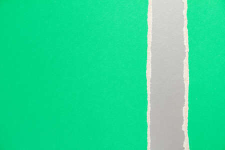Green and silver gray torn and ripped cardboard paper texture background. Can be used for text. Stock fotó