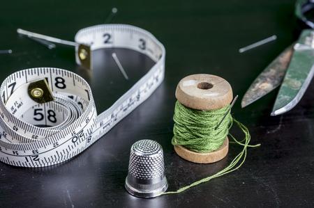 kit de costura: kit de costura de la vendimia