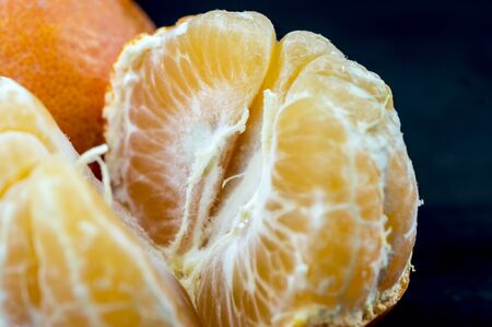 Tangerine macro Stock Photo