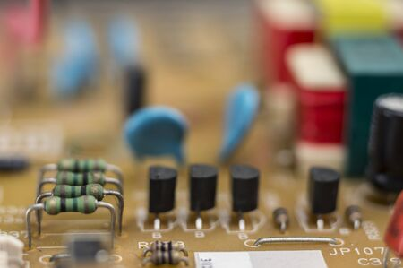 microprocessor: Macro shot of electronic components