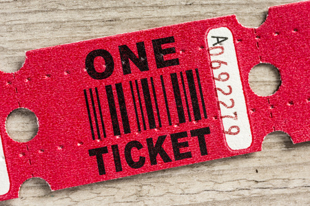 Macro shot of a generic pass or winning paper ticket