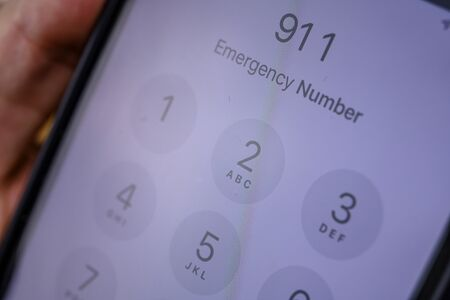 Calling 911 emergency number