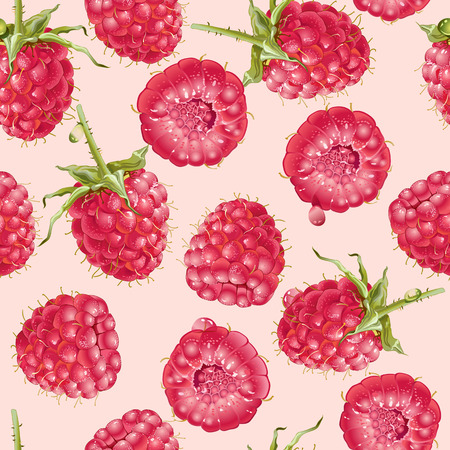 raspberry seamless pattern. Background design for tea, juice, natural cosmetics, candy with strawberry filling, farmers market, health care products. Best for textile,wrapping paper.