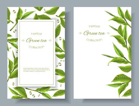 Green tea banners