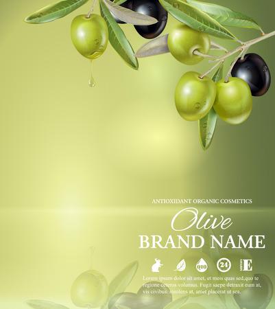 Olive green banner