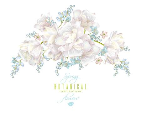봄 꽃 조성 일러스트