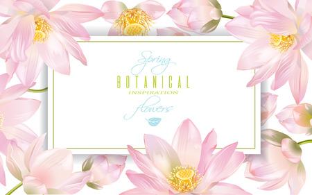 蓮の花のバナー 写真素材 - 73322171
