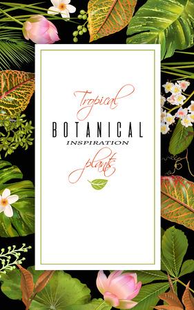 wedding reception decoration: Tropial plants banner