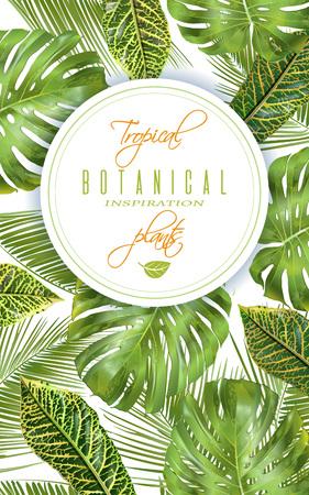 Tropische verticale banner Stock Illustratie