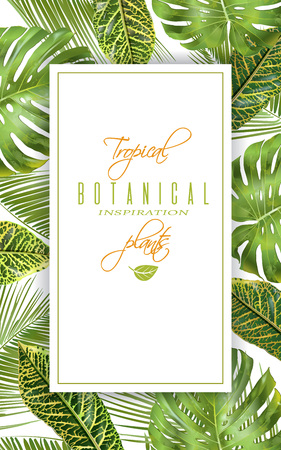 Tropical vertical banner