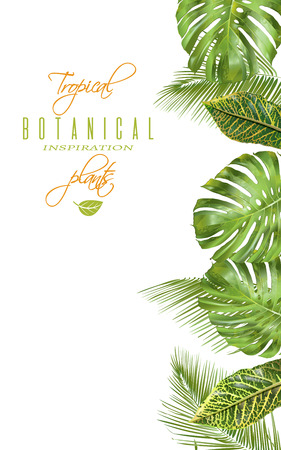 Tropical vertical banner