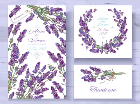 Lavender invitations set