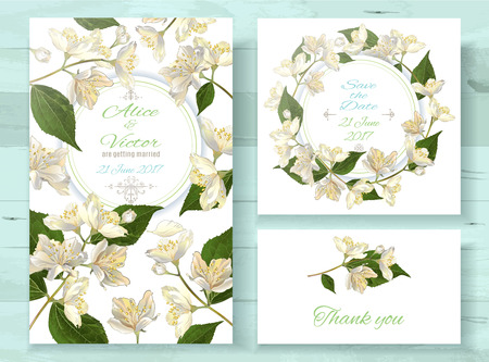 Jasmine invitations set