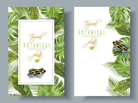 wedding reception decoration: Tropical vertical banners