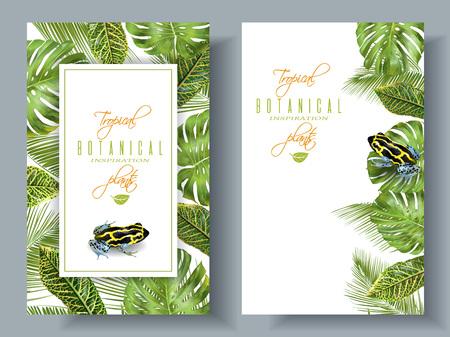 ranitomeya: Tropical vertical banners