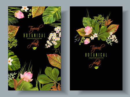 熱帯植物のバナー