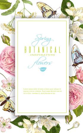꽃 나비 배너