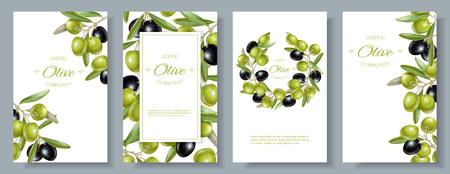 Olive design template. Illustration
