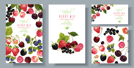 Berry mix banners set