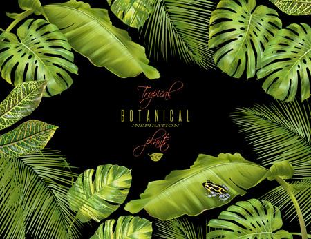 wedding reception decoration: Tropical horizontal banner