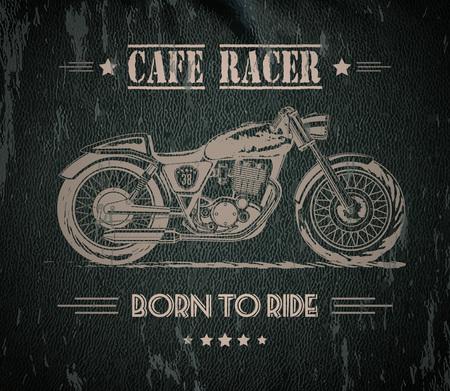 Motorcycle graphic banner Reklamní fotografie - 76639185