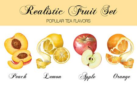 Relistic fruits set Illustration