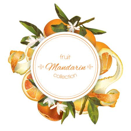 Mandarin round banner