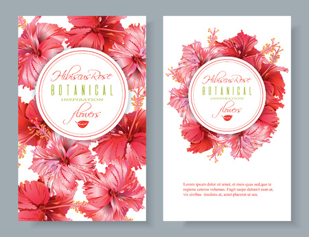 Hibiscus flower banners