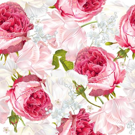 Romantic flowers vertical banner