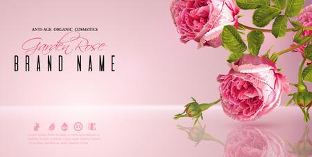 Rose flower banner