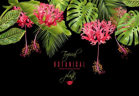 Bordo fiorito tropicale