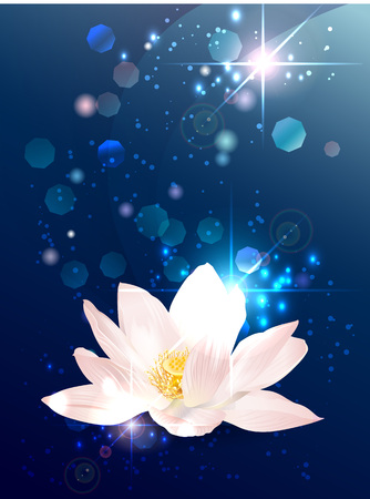 Lotus esoteric banner Stock Illustratie