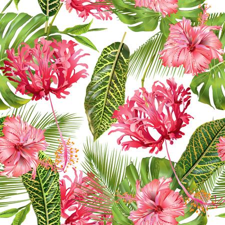 wedding reception decoration: Tropical flower seamless pattern