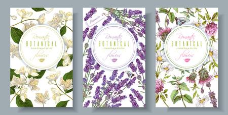 Banners verticales florales Ilustración de vector
