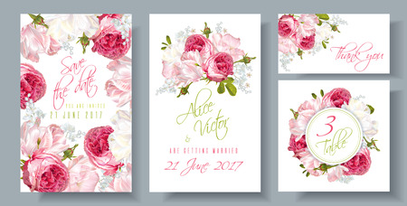 Rose wedding invitation Иллюстрация