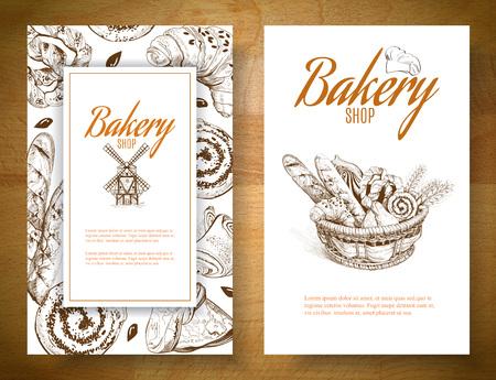 Bannière panier de boulangerie