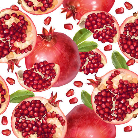 Pomegranate seamless pattern