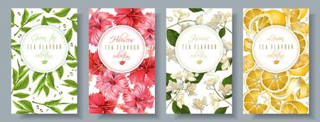 Tea flavour banners set Stock fotó - 80538077
