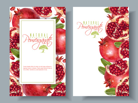 Pomegranate vertical round banners.