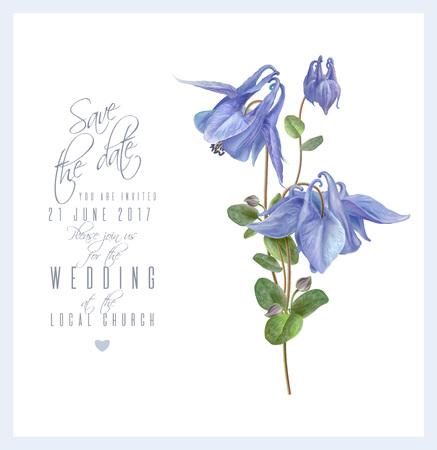 푸른 꽃 카드