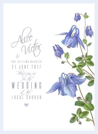 푸른 꽃 초대장