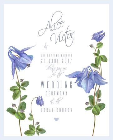 푸른 꽃 초대 카드